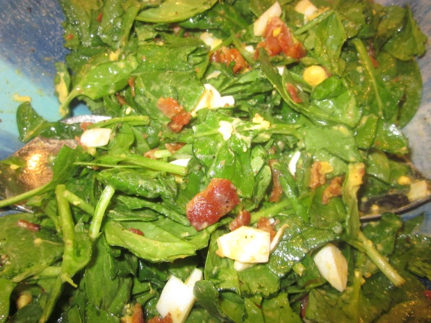 wilted spinach salad 008