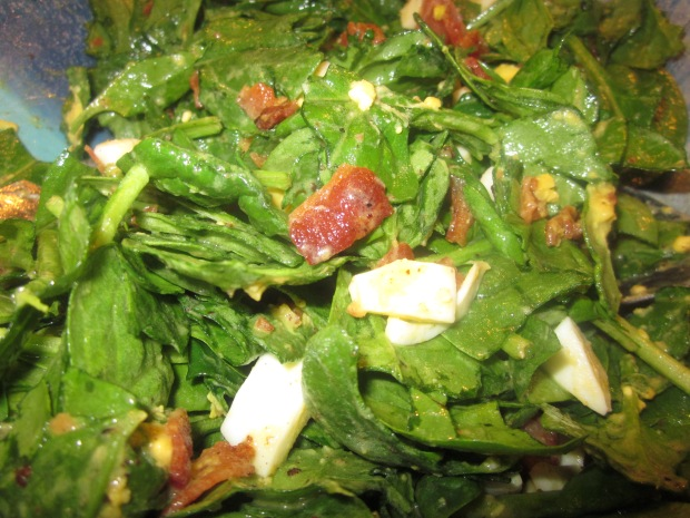 wilted spinach salad 009