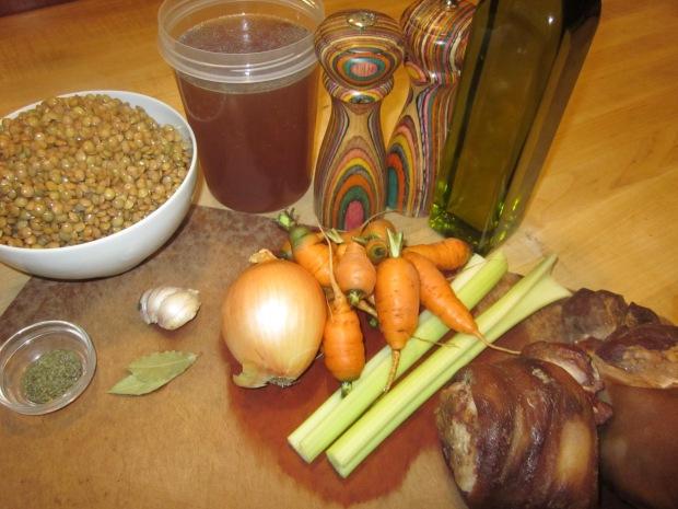 ham hock and lentil soup 045