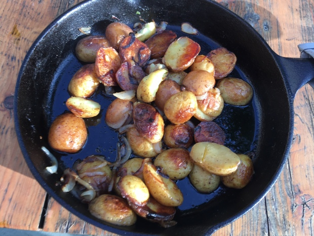 Potatoes on grill